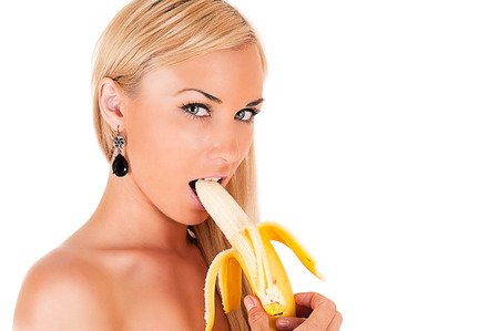sexy blonde eating your banana