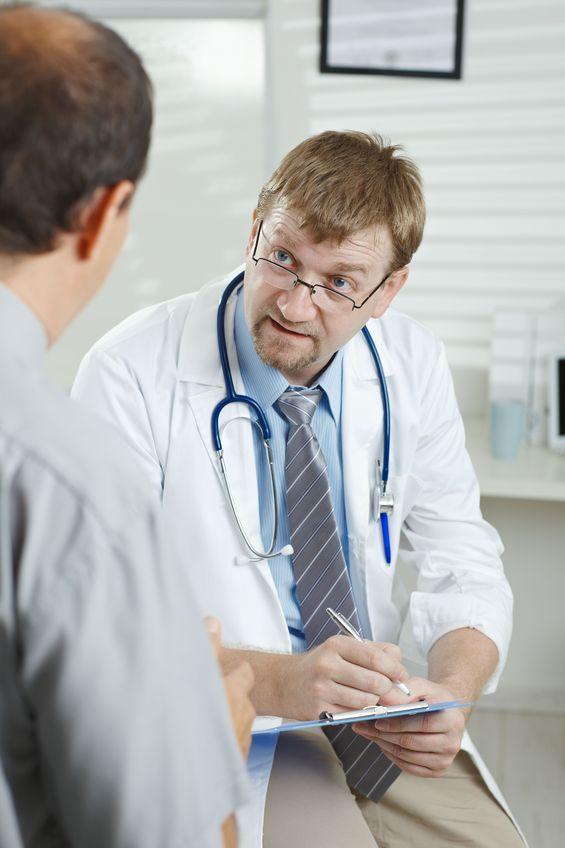 Doctor listening about premature ejaculation
